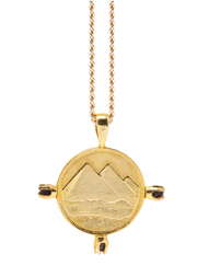 THE ALIGN PYRAMID Coin Necklace & Raw Black Diamonds - ShopAuthentique