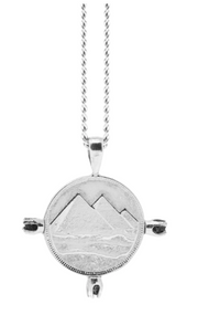 THE ALIGN PYRAMID Coin Necklace with Raw Black Diamonds