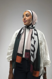 Rebel: Green/Pink Scarf - ShopAuthentique