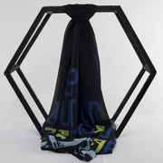 Original: Black & Blue Scarf - ShopAuthentique