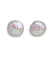 Small Flat Pearl Studs - ShopAuthentique