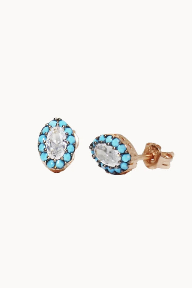 The Mes Me Rize Turquoise Earrings - ShopAuthentique