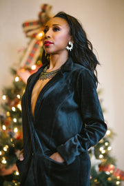 Black Velvet Blazer - ShopAuthentique