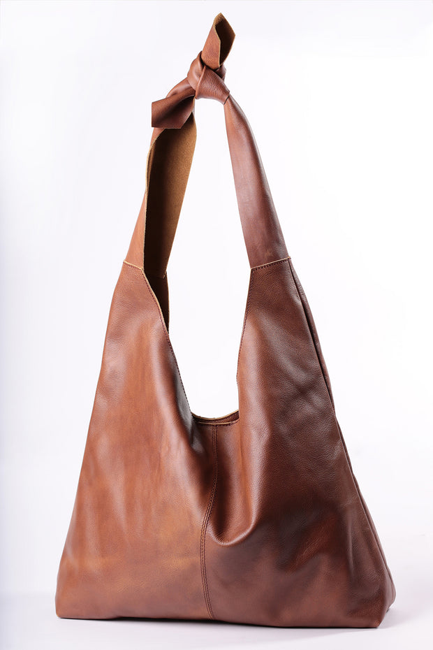 Knot Tote - cloud brown