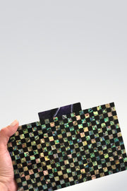 Dark Checkered Clutch - ShopAuthentique
