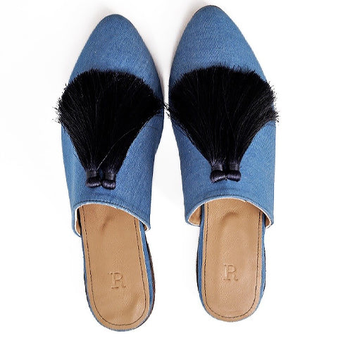 Denim Mule - ShopAuthentique