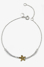 Flower White Gold Bracelet I - ShopAuthentique