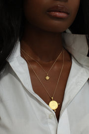THE CLEOPATRA Coin Necklace with Pearls - ShopAuthentique