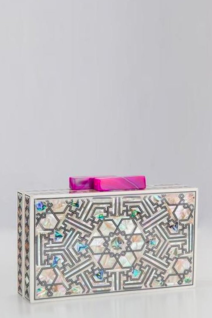 New York Clutch Bag  (Fuchsia Agate) - ShopAuthentique