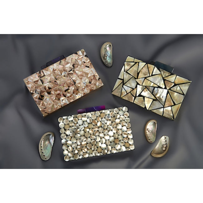 Squares Clutch Purple Agate - ShopAuthentique