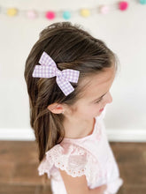 Load image into Gallery viewer, Ella | Purple Gingham | Mini | Left Clip