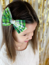 Load image into Gallery viewer, Maeve | Green Plaid | Oversized | Right Clip