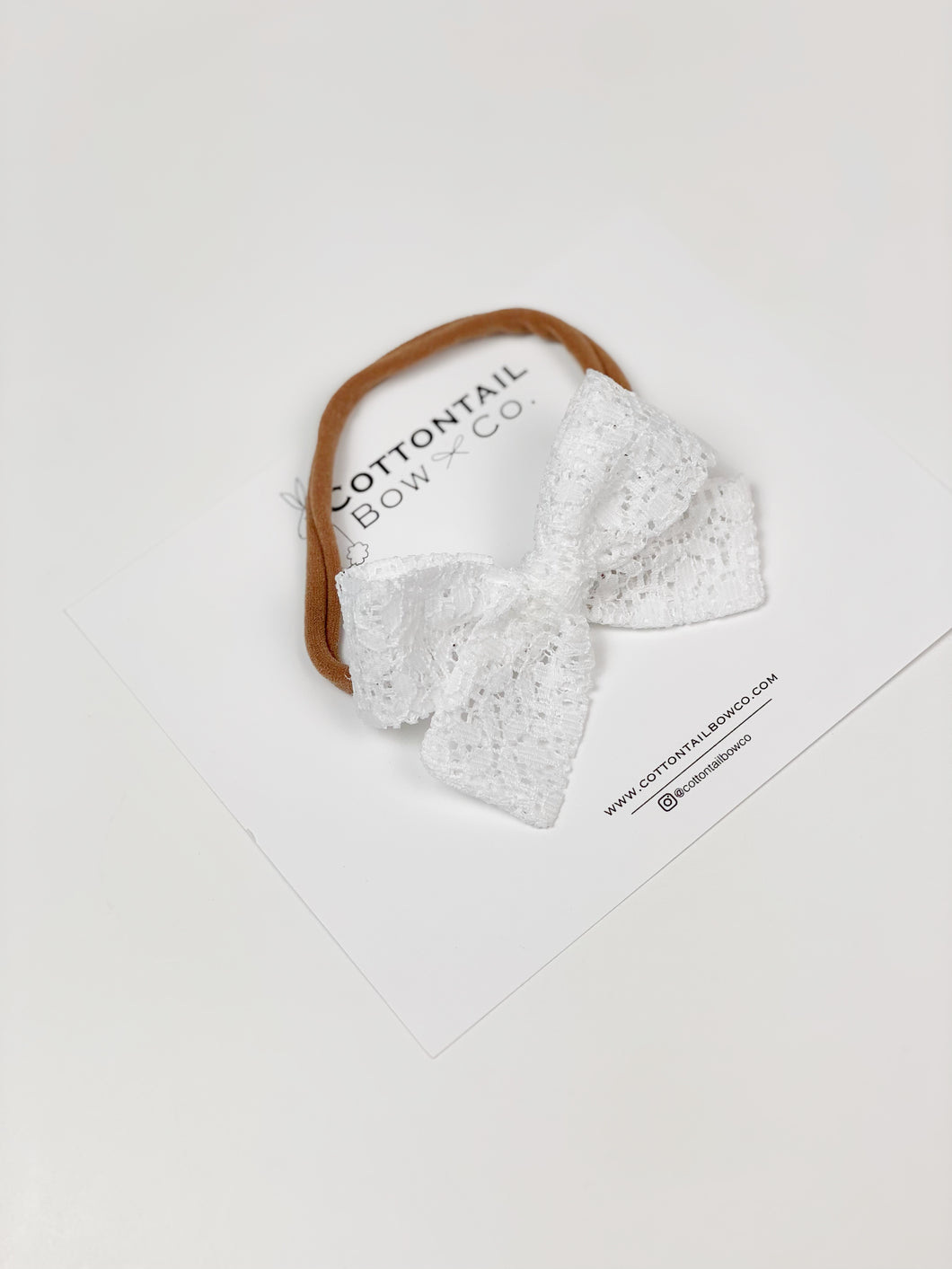 Maeve | White Lace | Mini | Headband