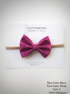 Cottontail Bow & Co. | Madison Bow | Personalized