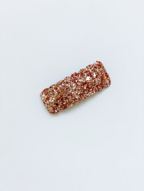 Single Sparkle Clip | Rose Gold Glitter