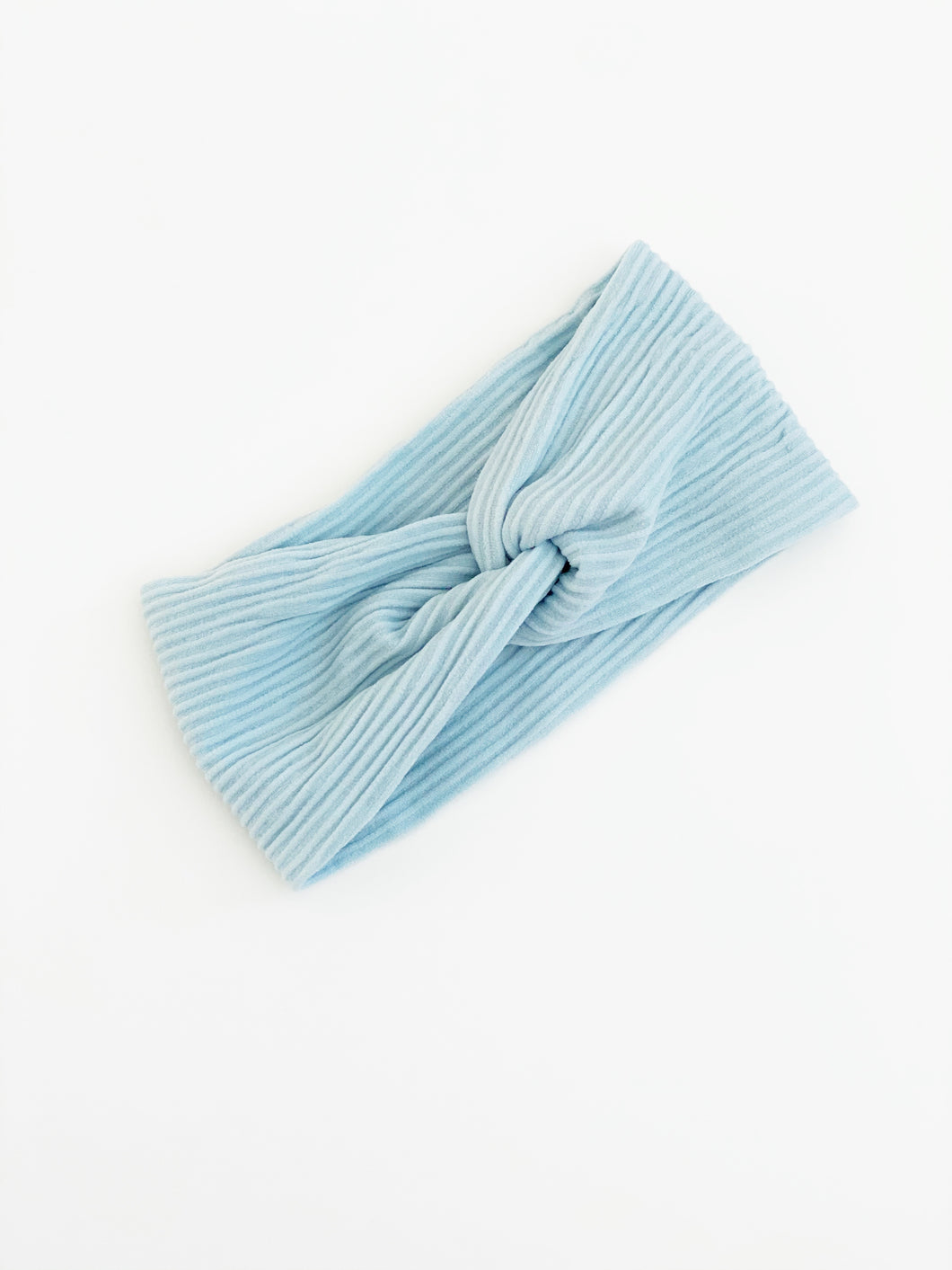 Rib Knit Twist Wrap | Cornflower | Small