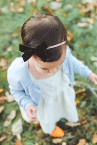 Evelyn | Black Velvet | Standard | Headband