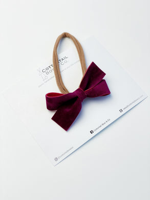 Petite Loop Bow | Mulberry Vegan Suede | Headband