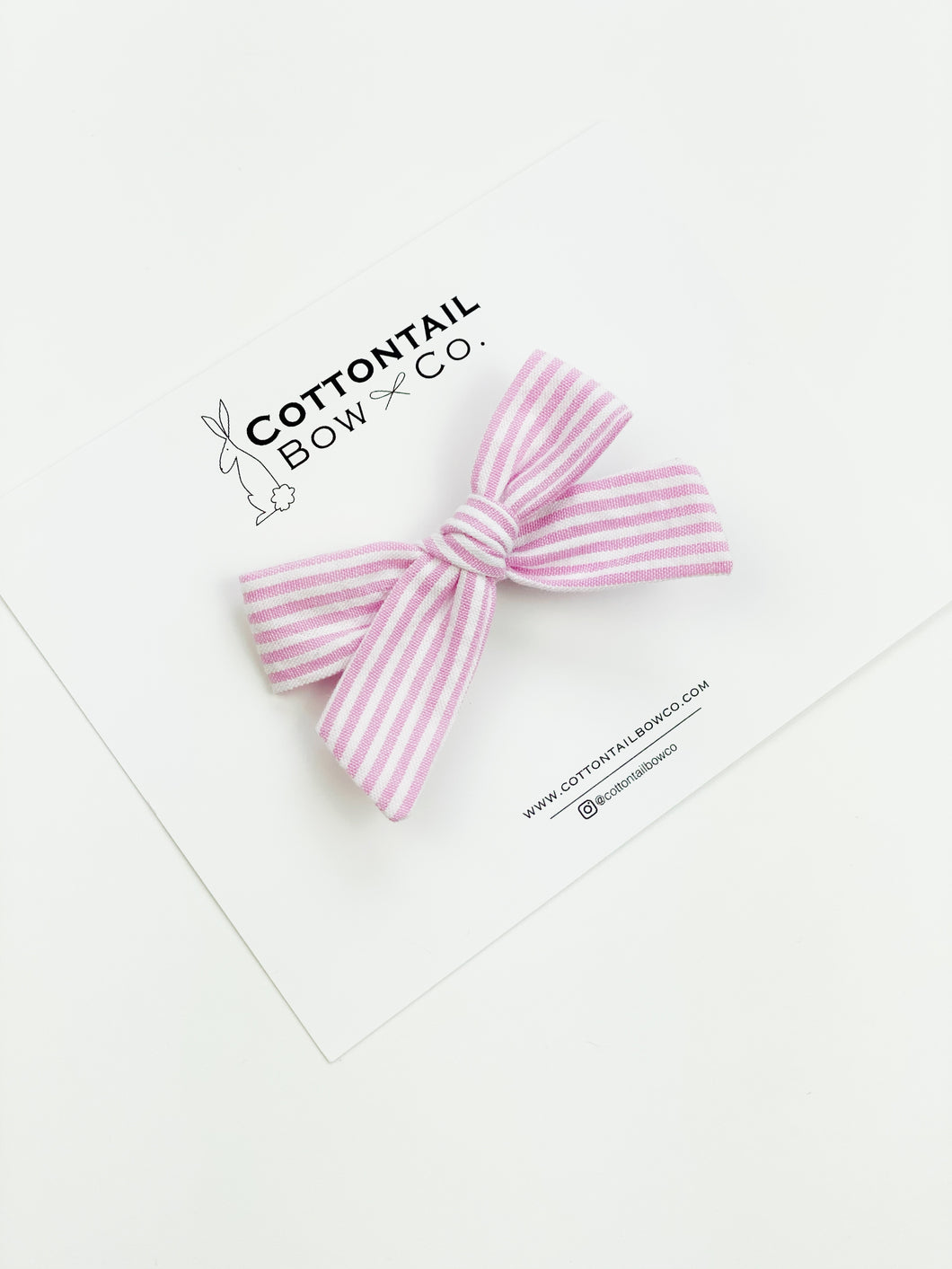 Ella | Pink Stripe | Mini | Right Clip