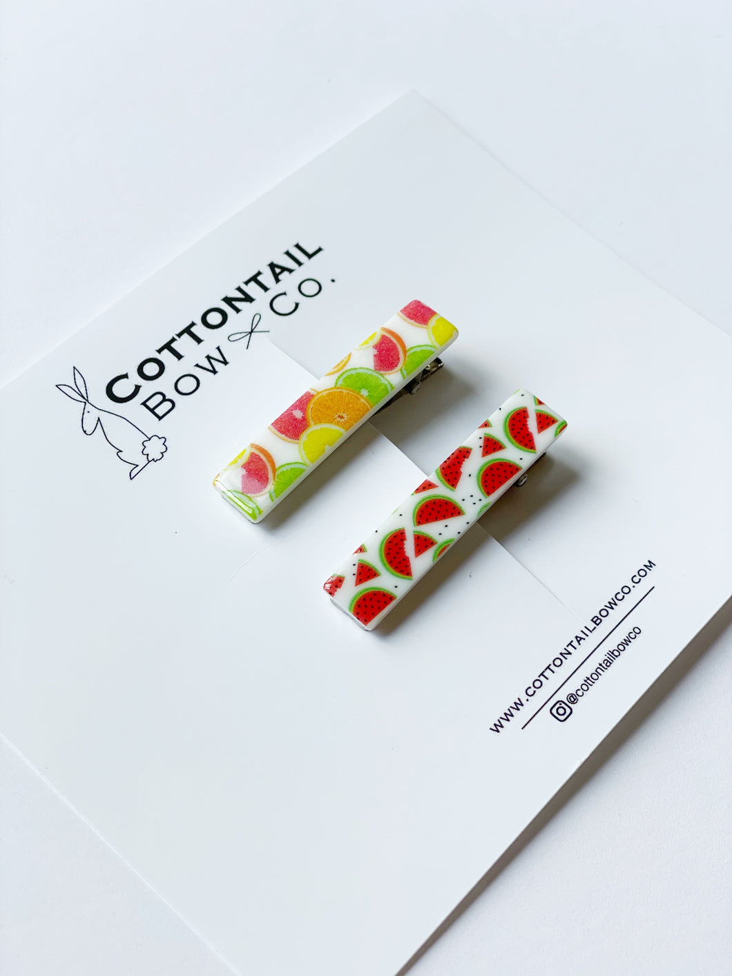 Cottontail Bow & Co. | Citrus & Watermelon Bar Clips