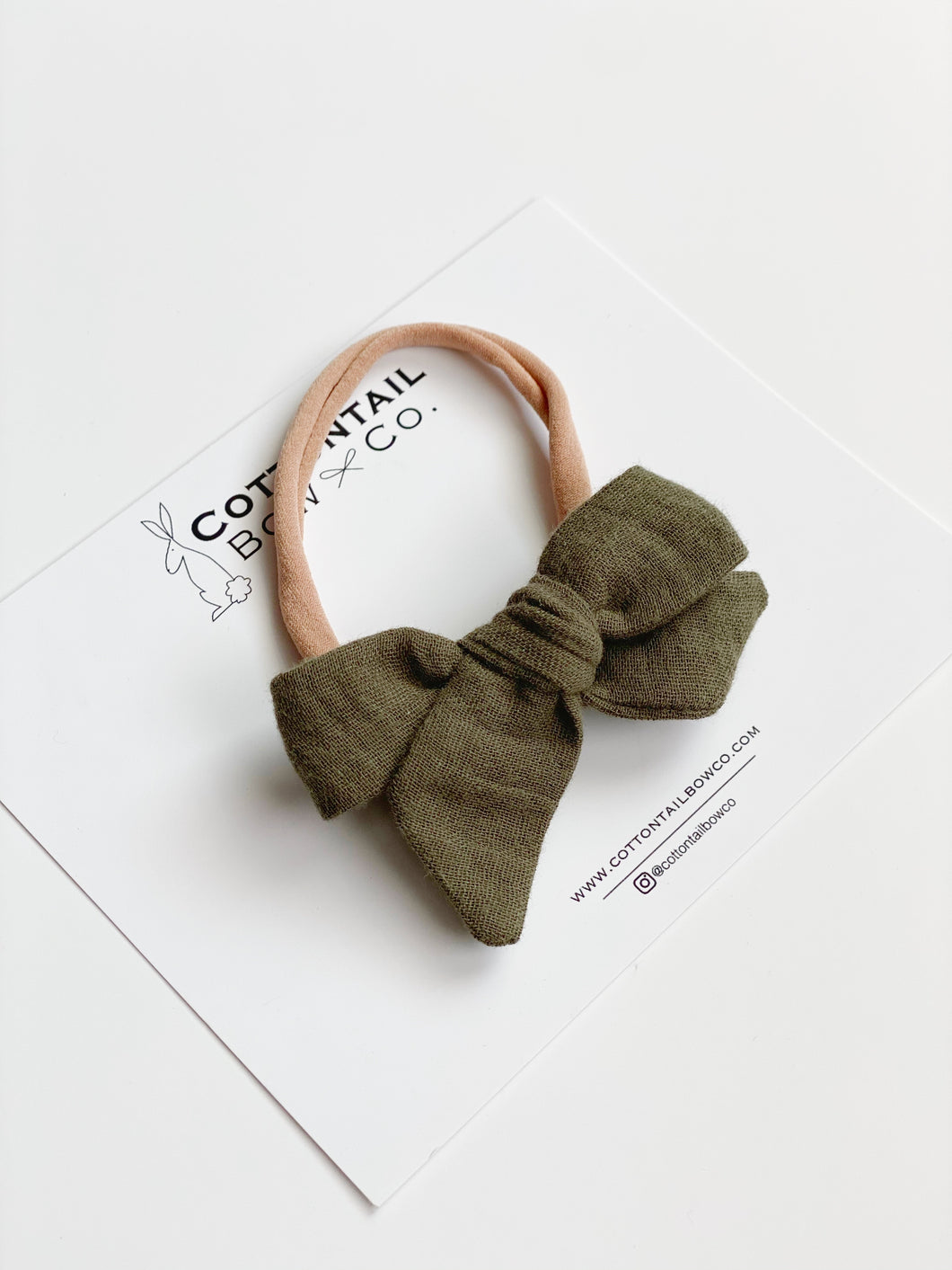 Maeve | Olive Double Gauze | Mini | Headband