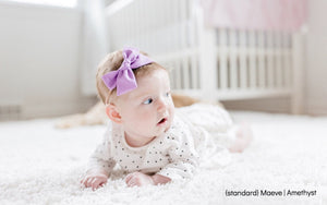 Cottontail Bow & Co. | Maeve Bow | Amethyst | Baby Bow