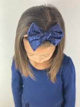 Load image into Gallery viewer, Maeve | Navy Crushed Velvet | Oversized | Headband
