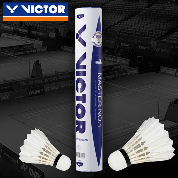 Victor Master No. 1 Goose Feather Shuttlecocks speed 78 (Free Shipping Excluded) - Pro Racquet