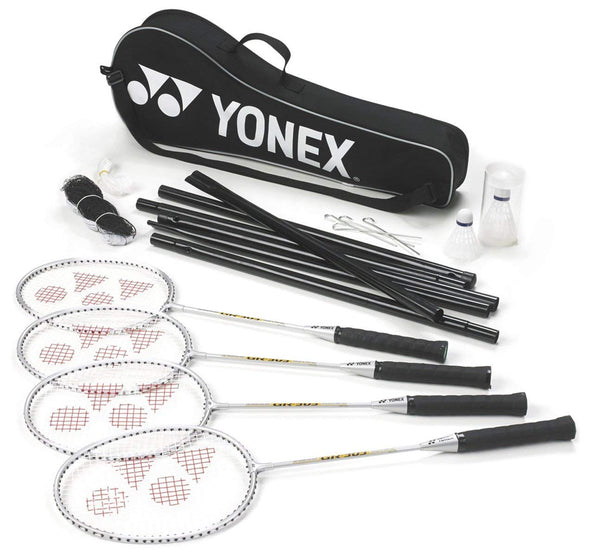 Yonex Badminton 4 Players set (4 Racquets, 2 shuttles, posts and net)