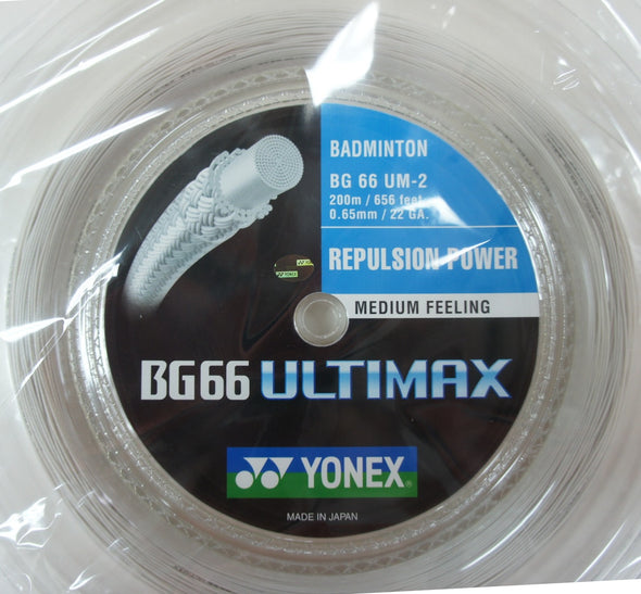 YONEX BG66 Ultimax Badminton Coil String 200m 7 colours Available