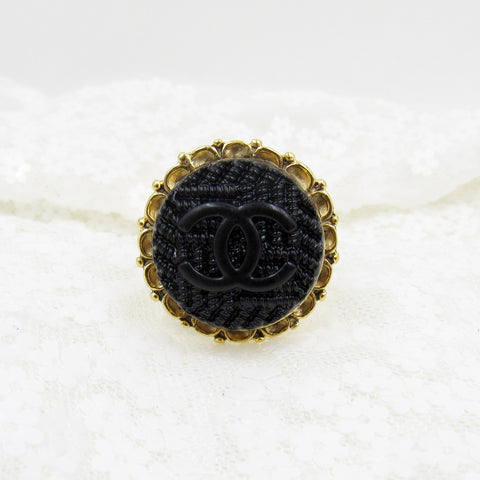 Chanel Button Rings