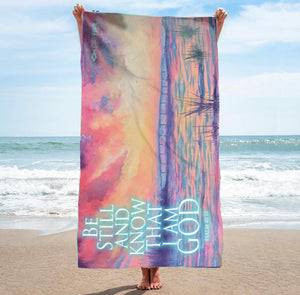 """Be Still"" EI Bridge Beach Towel"