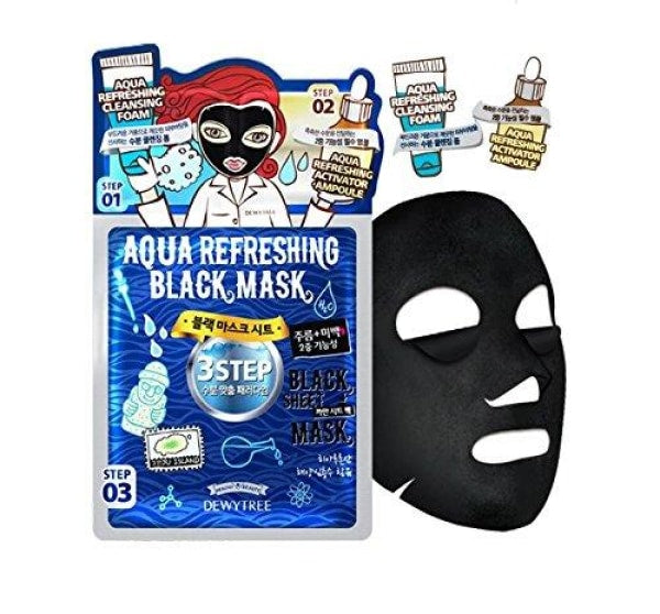 Dewytree 3 Step Aqua Black Mask Mask Sheet