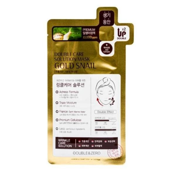 Double&zero Gold Snail Double Care Solution Mask Mask Sheet