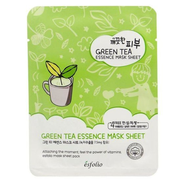 Esfolio Green Tea Essence Mask Sheet Mask Sheet