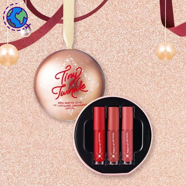 Etude House Tiny Twinkle Matte Chic Lip Lacquer Ornament 2G*3Ea Lip Balm