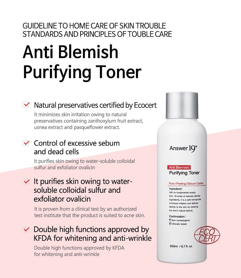 Answer19+ Anti Blemish Purifying Toner