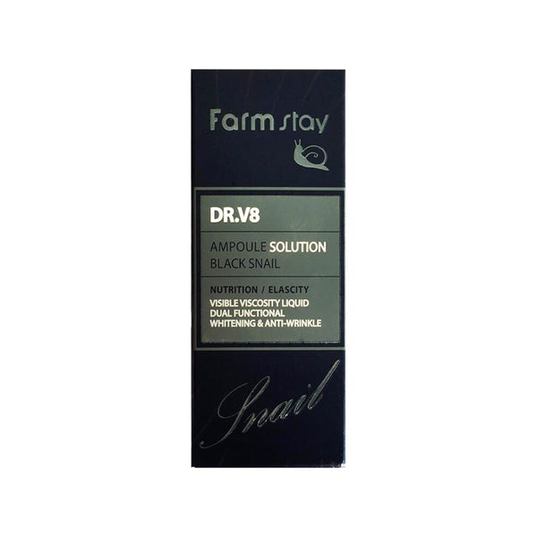 Farm Stay Dr.V8 Black Snail Ampoule Solution 30ml