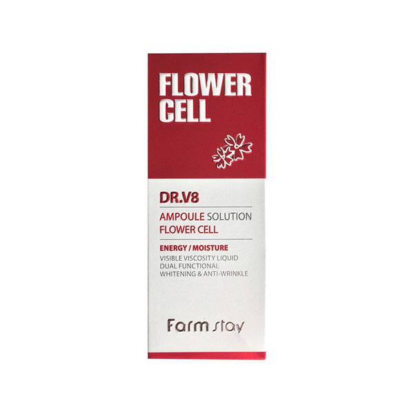 FARM STAY DR.V8 AMPOULE SOLUTION FLOWER CELL 30ML