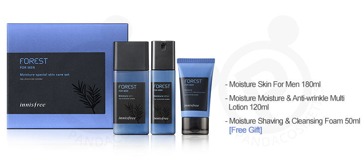 Innisfree Forest For Men Moisture Special Skin Care Set 3 Items