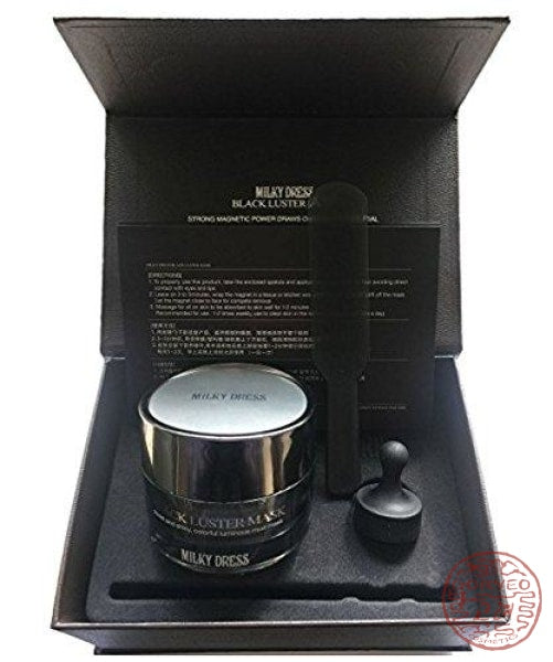 Milky Dress Black Luster Mask Mask