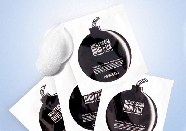 Milky Dress Bomb Pack Cleanser Mask- 1 Pack Cleansing Foam