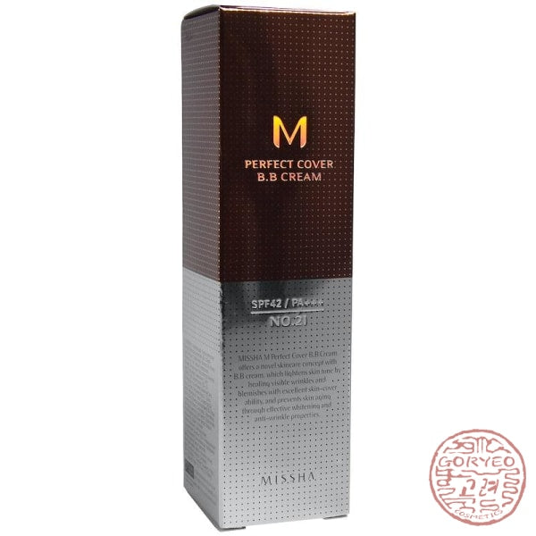 Missha M Perfect Cover Bb Cream No. 21 Light Beige 50 Ml Cream