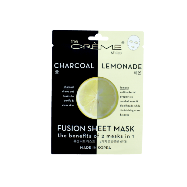 The Creme Shop Charcoal & Lemonade Infused Face Mask Mask Sheet