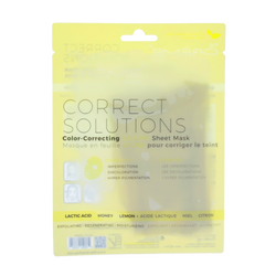 The Creme Shop Correct Solutions Sheet Masks Yellow Mask Mask Sheet