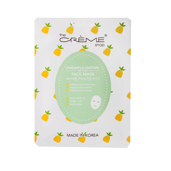 The Creme Shop Pineapple Enzyme Infused Face Mask Mask Sheet