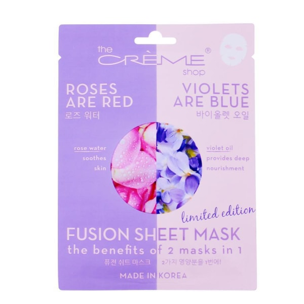 The Creme Shop Roses Are Red Violets Blue Mask Mask Sheet
