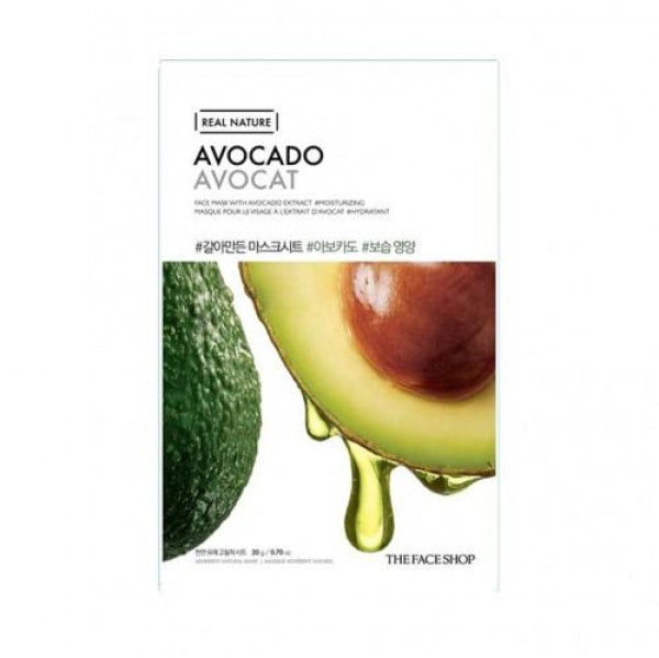 The Face Shop Avocado Real Nature Mask Mask Sheet