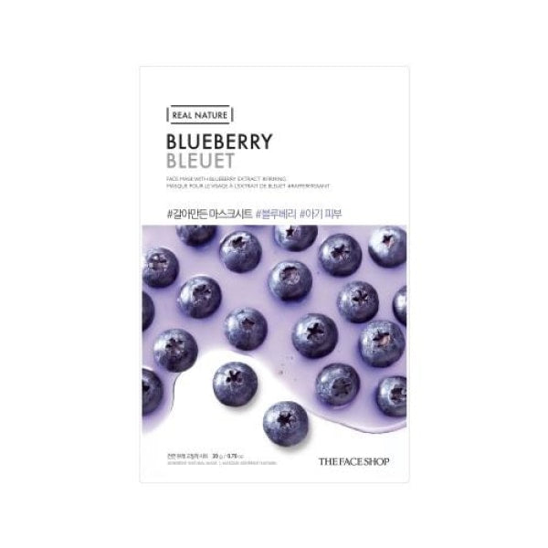 The Face Shop Blueberry Real Nature Mask Mask Sheet