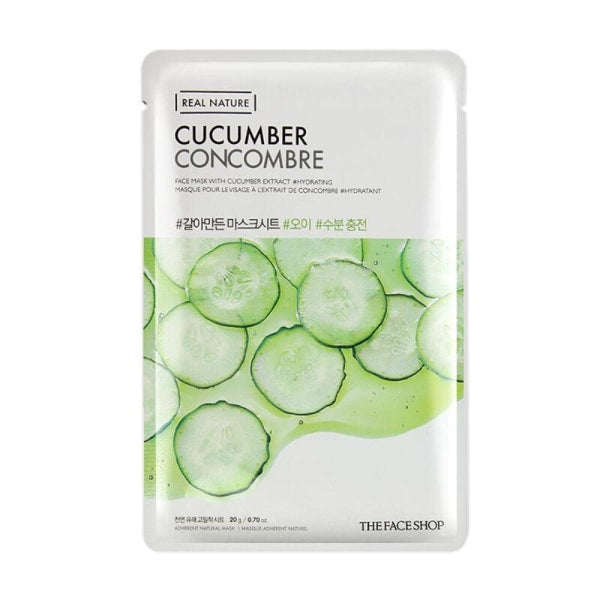 The Face Shop Cucumber Real Nature Mask Mask Sheet
